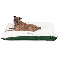 Personalized Pet Pillow Dog Bed Custom Embroidered  Removable Pet Bed Cover  Small to Medium Green >>> Find out more about the great product at the image link.