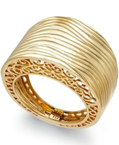 £816.11 Textured Ring in 14k Gold Jewelry