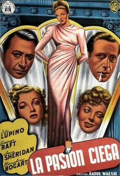 La pasión ciega (1940) EEUU. Dir: Raoul Walsh. Drama. Cine negro. Thriller. Road Movie - DVD CINE 898