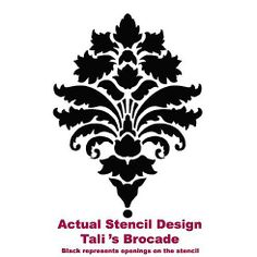 This website has tons of stencils that help you create awesome feature walls for way less than buying comparable wallpaper.  Entry room stencil to go with my rug; maybe do it in pink.