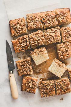 Super easy maple nut cake.