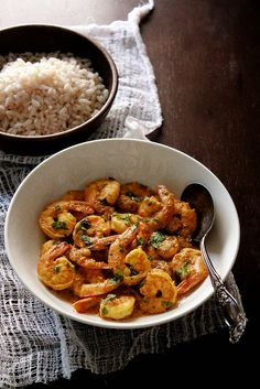 Shrimp vindaloo...