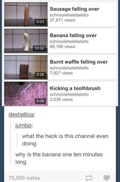Why is the banana one 10 minutes long?