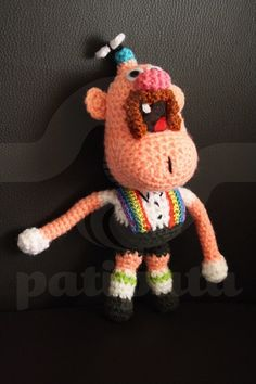 Uncle Grandpa - 19cm amigurumi by PatipataHandmade on Etsy