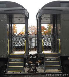 Order as Art: Tandem Trains | www.theorderexpert.com #art #design #trains #order