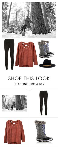 """""""Walkin in a winter wonderland"""" by aubreyyy13faithhh ❤ liked on Polyvore featuring SOREL, Yves Saint Laurent and Janessa Leone"""
