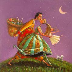 Coup de cœur du concours peinture toutes techniques sur www.myrankart.com  Moonwalk by KALACHEVA MARIANA