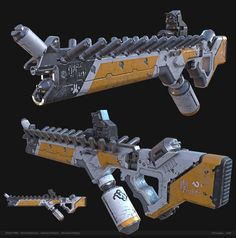 District 9 Assault Rifle Material Finals, Nick Quackenbush on ArtStation at https://www.artstation.com/artwork/district-9-mech-material-finals-10a713e1-a86c-4679-ab9a-bb67f83dd24f