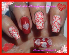 Nail Art Stamping Mania: Another Valentine's Day Mani With W plates