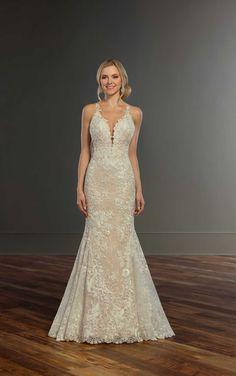 Breathtaking Garden Lace Wedding Dress | Martina Liana Wedding Gowns
