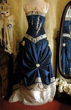 STEAMPUNK WEDDING GOWNS | blue steampunk wedding dress | Flickr - Photo Sharing!