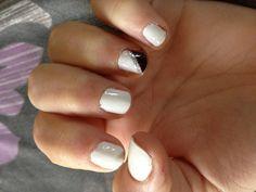 White nail polish with cute design