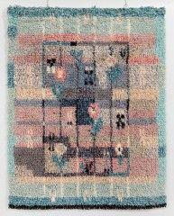 Ester Ax: Kesämuisto, 1930-luku Rya Rug, Wool Rug, Textile Patterns, Textiles, Rug Hooking, Printing On Fabric, Bohemian Rug, Fiber, Weaving