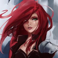 League of Legends - League of Legends Lol League Of Legends, Katarina League Of Legends, Female Character Design, Character Concept, Character Art, Redhead Characters, Fantasy Characters, Red Hair Pictures, Anime Poses Female