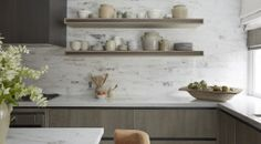 This beautiful kitchen is such a favourite. The textured doors are so beautiful in person.   Helen Green Design, London