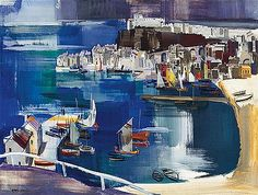 Fishermen's Town by the Adria (Porto dell'Adriatico) - Vilmos Aba Novak Graphic Arts, Mural Painting, Painter, Painting, Art