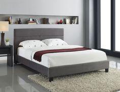 DIY Upholstered Bed Frame | ... 160X200 CM UPHOLSTERED BED KING SIZE 5 FT 2 INCH SLATTED FRAME | eBay