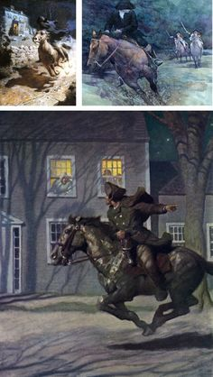 Paul Revere...I couldn't swear to it, but I think at least 2 of these illustrations are by the amazing N.C. Wyeth