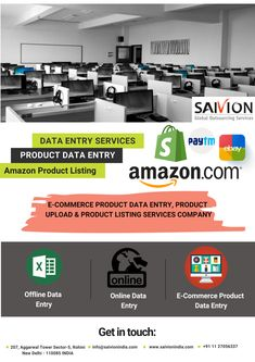 SaivionIndia - A leading data entry outsourcing services company in India provides offline/online data entry, online product upload, e-commerce product listing services at competitive prices. Amazon Products List, Data Entry Projects, Data Cleansing, Online Data Entry, Data Processing, Management Company, This Is Us Quotes, Ecommerce, India