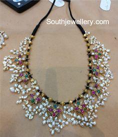 Black Thread Guttapusalu Necklace