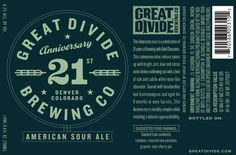 Great Divide Brewing Co. 21st Anniversary — The Dieline - Branding & Packaging