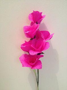 jolies fleurs en papier crépon | fleurs en papier crépon, papier