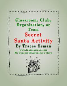 Classroom Freebies: Classroom Secret Santa Activity