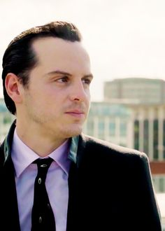 "Jim Moriarty - Andrew Scott: ""Told all my clients, last one to Sherlock is a sissy."""