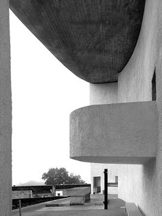 The chapel of Notre Dame du Haut in Ronchamp. 1954. Le Corbusier.