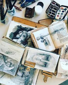 End of day one of our second weekend of the Be Present workshop. The best women gather for our workshops! The Potter's Hand, Artist Journal, Journal Art, Art Journal Backgrounds, Beautiful Notebooks, Commonplace Book, Art And Craft Design, Visual Diary, Urban Sketching