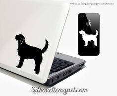 This Otterhound decal is electronically cut in my studio from my own silhouette designs out of outdoor/indoor vinyl. Easy to apply, and remove