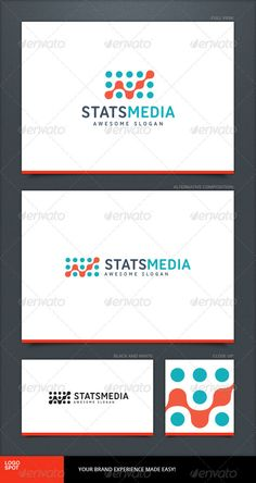 Stats Media Logo Template