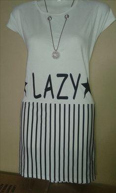 esta prenda la puedes usar como playera o vestido es de algodón delgado elasticado viene con collar incluido