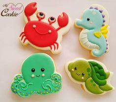Mermaid Cookies, Fish Cookies, Fancy Cookies, Flower Cookies, Valentine Cookies, Cute Cookies, Cupcake Cookies, Cupcakes, Best Sugar Cookies