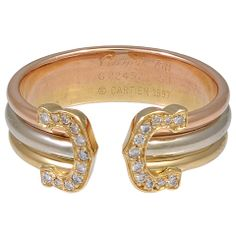 CARTIER Signature CC Ring with Diamonds