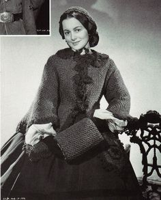 """Olivia de Havilland in """"Gone With the Wind"""" 1939"""
