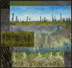 """Nenana Flats"" Quilt artist Won the ""Caught my Eye"" award at ""Quilt Visions 2004"" show, San Diego. Now at Pratt Museum, Homer."