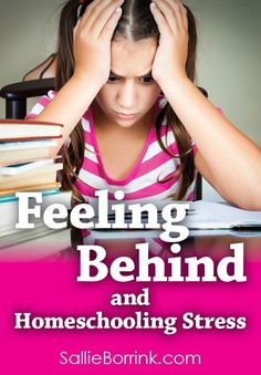 Do you struggle with feeling behind? This can often contribute to homeschooling stress. Identifying what is causing that feeling of constantly being behind is the first step in dealing with it!