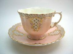 Pale rose tea cup
