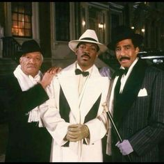 """Redd Foxx, Eddie Murphy & Richard Pryor in """"Harlem Nights"""" - Three great funny men and it was really cool to see them work together for the first time. Black Actors, Black Celebrities, Hip Hop Americano, Harlem Nights Party, Redd Foxx, Photo Star, Richard Pryor, Vintage Black Glamour, 1920s Glamour"""