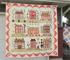 House #quilt by Judy Fitzgerald.