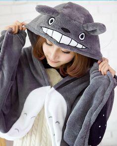 Totoro Cloak Shawl | 47 Insanely Adorable Studio Ghibli Items You Need Immediately