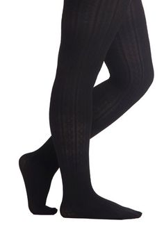 Liven Up Your Look Tights in Black - Plus Size, #ModCloth