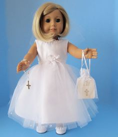 American Girl Doll: First Communion Crystals by SewSpecialByBarb