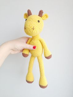 Giraffe+Plush+Giraffe+Stuffed+Animal+Giraffe+by+MarigurumiShop,+€30.00