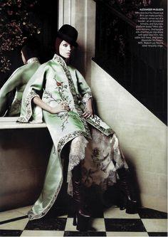 Daria Werbowy in Alexander McQueen - Vogue by David Sims, May 2009