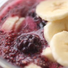 chia pudding with berries and banana