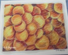 """Colored pencil on paper, """"Eruption """"8"""". X 7.5"""""""