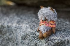 Купить волчонок и ветер - серый, волк, люлька, сон, сказочный персонаж, авторская игрушка, мохер