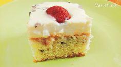 Pudingový jahodovo-čučoriedkový koláčik (fotorecept) - Recept